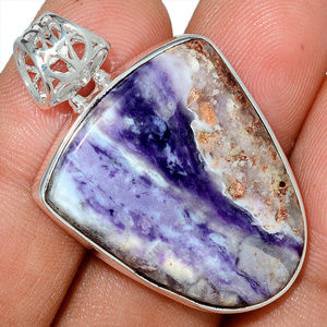 Jewelry - Violet Flame Opal in Sterling Silver 925
